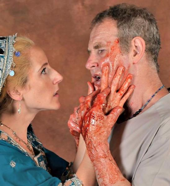 """Liza de Weerd and Nigel Gore in """"Macbeth."""""""